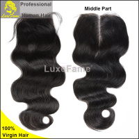 Luxefame virgin sex pussy with hair human hair with closure for sale