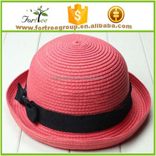 women summer spring derby bowler hats straw round brim beach sun hats