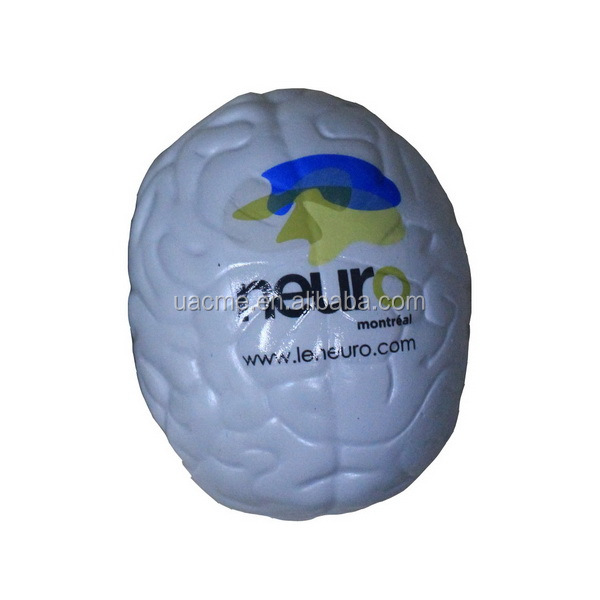 colourful brain shape anti stress ball squeeze ball health care educational gift