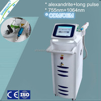 Manufacturer!! Face and body alexandrite laser 755nm hair removal equipment ODM Service