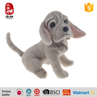 Cute plush puppy dog animal toys for amusement park