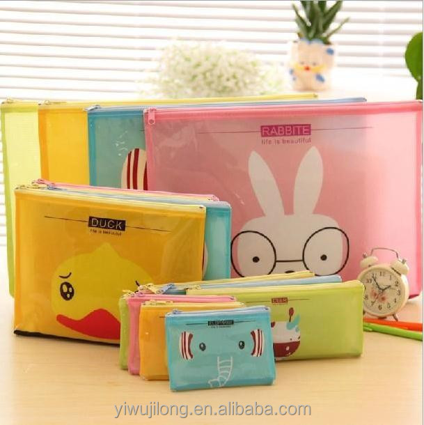 Wholesale all kinds of cheap cartoon animal waterproof file folder bag with different sizes for document