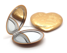 heart shape aluminum pocket mirror /Ladies gift handbag bag purse travel mirror compact make up mirror