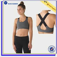 Hot sale custom sublimation and hot sexy seamless sports bra for girl