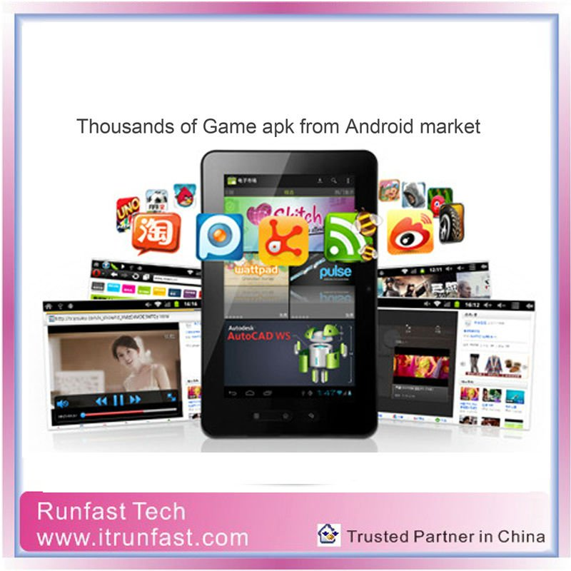 Manufacturer /Factory Super-Thin Android 4.0 7inch MID Tablet, Wi-FI+External 3G