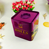 Wholesale new sweet gift big square candy storage tin container
