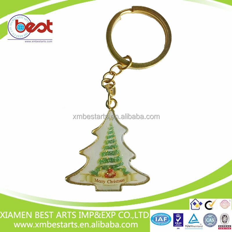 New product for 2015 Christmas promotional custom metal key ring