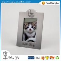 Manufacturer good quality Pewter Finish Cat Silver Mini Picture Frame