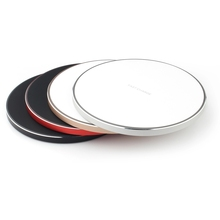 2019 hot Selling Wireless Charger Crystal Round Charging Pad for iPhone X QI Wireless Charger