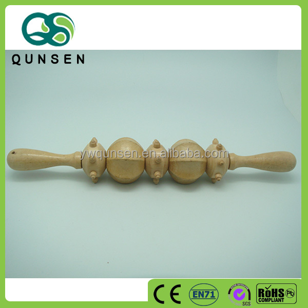 china hot sale 5 wheels wooden personal spa body massager