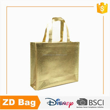 Fashionable Metal Film Laminated Non Woven Bag Customized Laminated Non Woven Shopping Bag