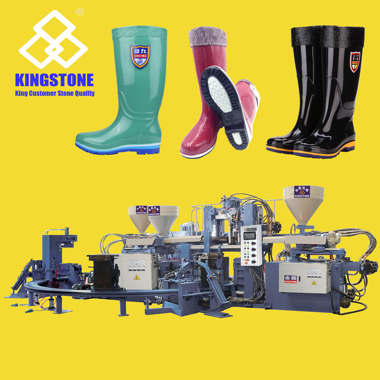 Kingstone NEWEST Three 3 Colors PVC Rain Boots Making Machine