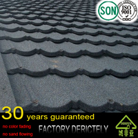 factory selling Color Chip Coating Alloy Bond Type Roofing Tile / Europe Standard Roof Material