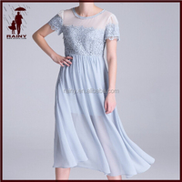 Ladies Chiffon and Lace Summer Dresses With Liner