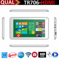 Super Slim 7 inch rk3168 cortex a9 dual core tablet pc with Cortex A9 Dual Core HDMI 0.3MP/0.3MP Full 1080P Kitkat Android 4.4