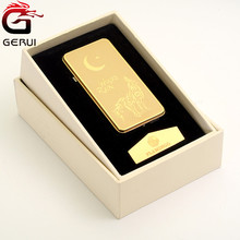 Golden flameless electric charging USB lighter wholesales for promotion gift