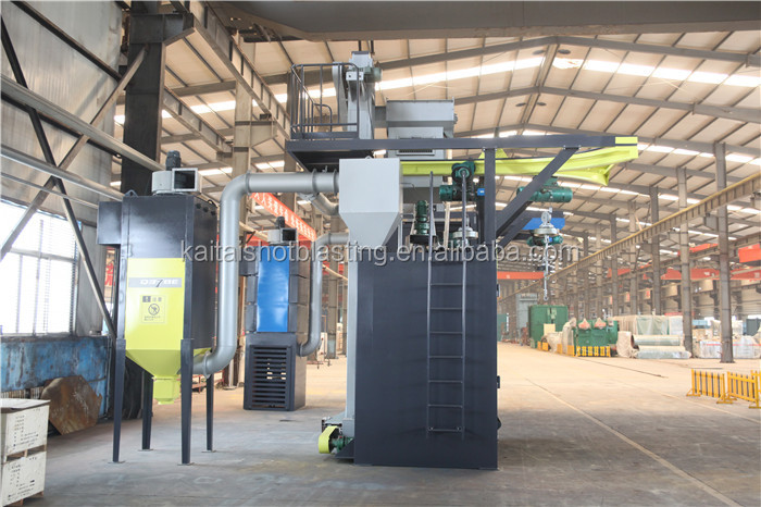 Double hook shot blasting machine