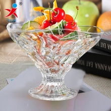 Salad and fruit high stem glass bowl