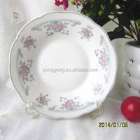 "9"" top grade porcelain round dinner plate,melamine plates for restaurant,daily use product new"