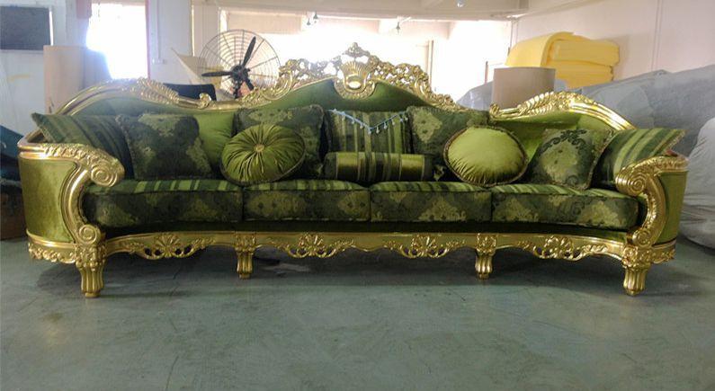 China Gouden Leverancier Danxueya Oem Odm Fabriek Arabische Majlic Antieke Sofa Meubelen