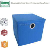 600D polyester foldable storage box with metal handle