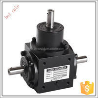 manual spiral bevel gearbox small transmission gearbox with ratio 1:1 with 3 way