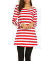 OEM Women's Long Sleeve T shirt Simple Striped T-Shirt Tunic Tops For Leggings Crew Neck T shirts