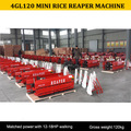 4GL120 reaper binder tractor operate, small tractor reaper 4GL120, Rice reaper