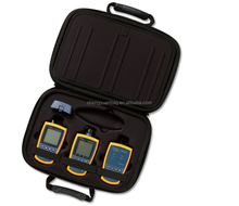 MicroScanner verification test meter case and optical power meter verifies network cabling for functionality