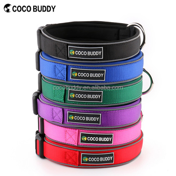 High Quality Nylon Webbing with Neoprene Dog Collars Reflect In the Dark