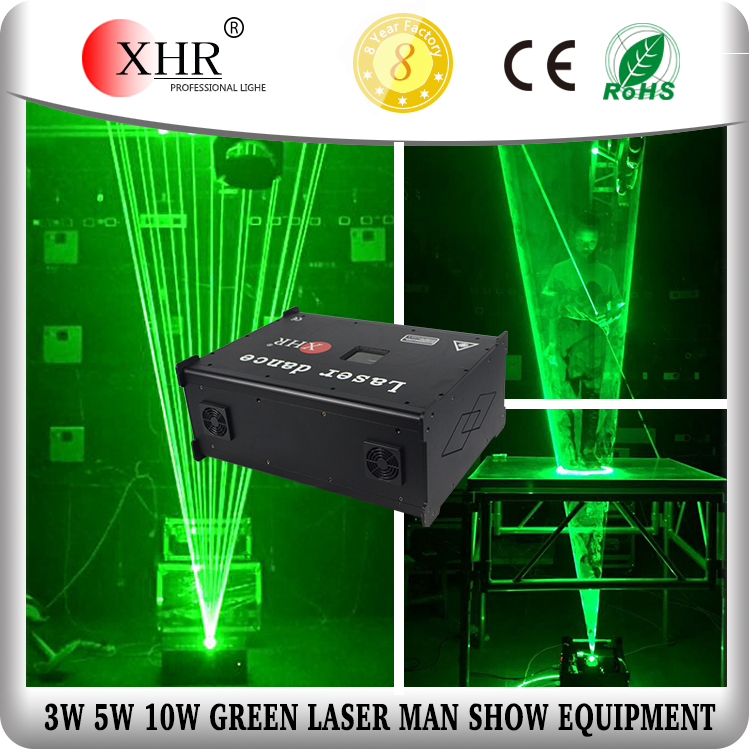 Green Laserman Show /10W Disco Club Laser Dance/Stage Lighting Equipment