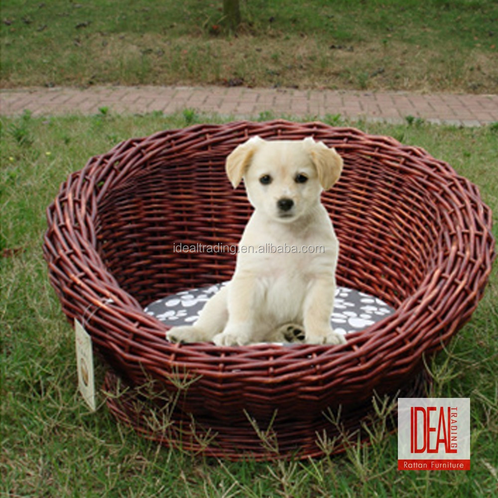 china wholesales wicker rattan dog kennel for sale