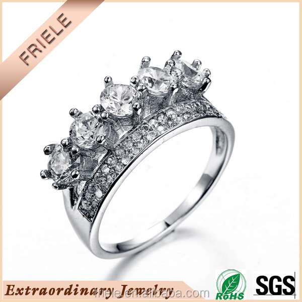 2015 hot selling silver jewelry ring 925 sterling silver diamond ring