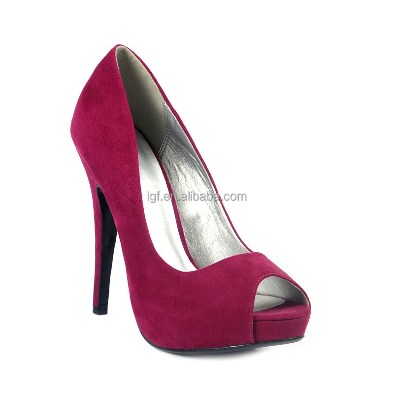New Women's Fashion Sexy Red Bottom Platform 16cm Leather cross Peep toe High Heels Shoes Party Pumps