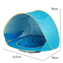 Baby Beach Tent With Pool UPF50+ Pop Up Sun Shade Kids Tent Folding Tent
