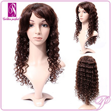 "150% Density curl wave full lace 24"" long wavy human hair wigs"
