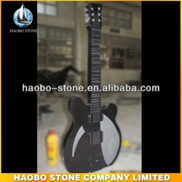 Shanxi Black Granite Guitar Headstones/Monuments
