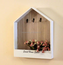 White home decor hanging on the wall key holder wood storage box safe as present