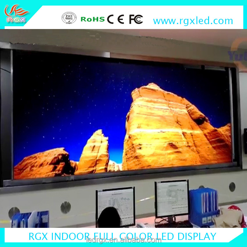 Shenzhen RGX Best price commercial led tv full color pixel pitch2mm Super thin light led digital board full color