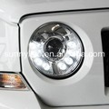 For Jeep Patriot 2011-2014 led Head Light Chrome Housing