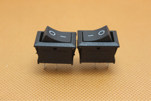 good quality cheaper price kcd1-101 rocker switch 2pin 2pole (red or black color for your choice)