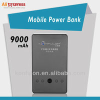 konfulon 9000mah Universal Power Bank Charger for iPhone/iPad/iPod, other Smartphone and more