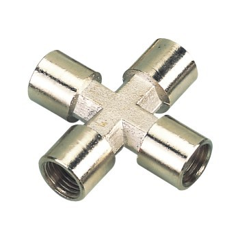 equal female to male cross brass connector,high quality brass cross type