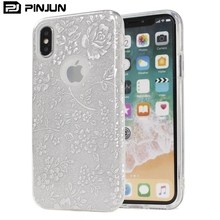 3 in 1 embossing peony glitter electroplated silver paper case for iphone x,matte frosted paper cover for iphone x