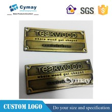 Bronze metal plating label, metal label for decoration