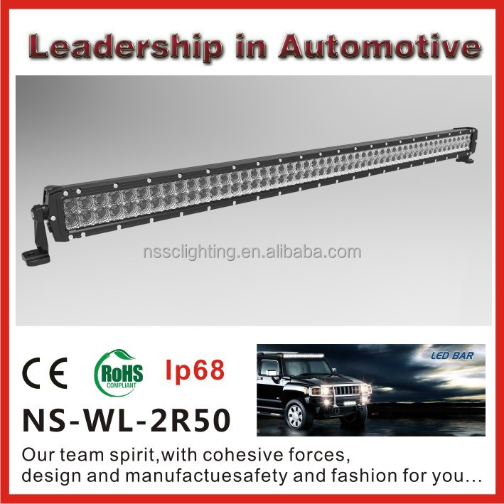 High quality 50 inch 300w car led offroad light bar with lifetime warranty
