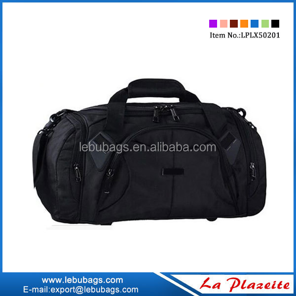 Blue and black gym duffle bag for sport gym business for sale