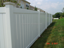 Nature Pressure Treated Wood Type and PVC Plastic Type pvc profile fence, PVC valla de jardin