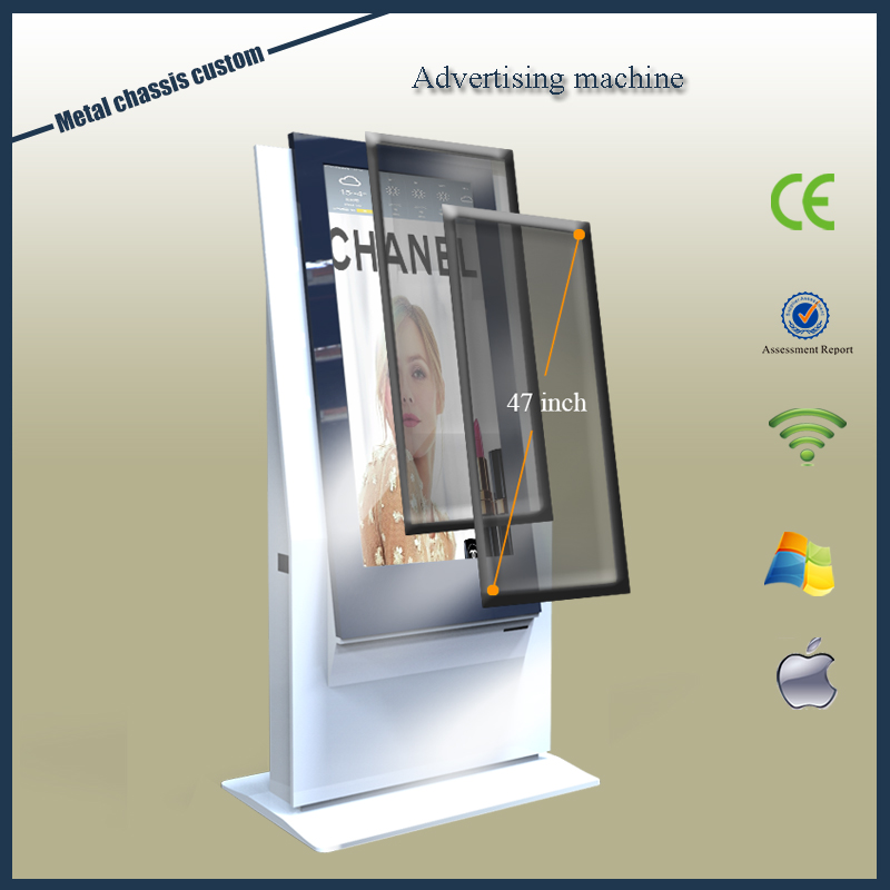 Floor stand 47 inch led outdoor billboard advertising player/open frame billboard advertising display/metal chassia custom