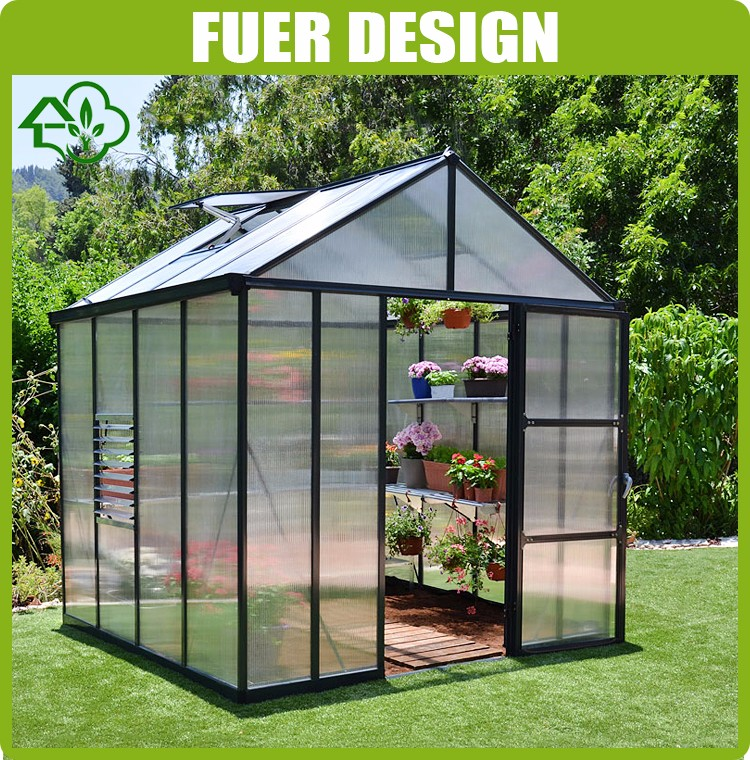 Hot Sale Eco-frienndly Aluminium Profile Garden Greenhouse for flower